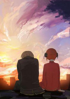 Sougo Okita x Kagura [OkiKagu], Gintama Anime Love Couple, Cute Anime Couples, Manga Anime, Anime Art, Gintama Wallpaper, Fairy Tail Comics, Jojo Anime, Okikagu, Fairy Tail Ships