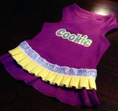 Dog Name Hologram Dress by FetchDogFashions on Etsy, $49.99