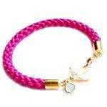 bracelet fantaisie femme rose. Idées cadeaux. bijoux fantaisie tendance. Bijoux créateur