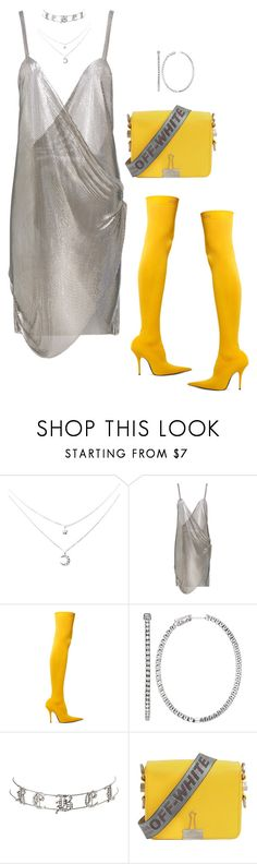 """""""Untitled #4089"""" by mollface ❤ liked on Polyvore featuring Fannie Schiavoni, Balenciaga, Emilio!, Charlotte Russe and Off-White"""