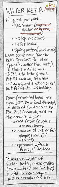 Kefir: Non-dairy Water Kefir- Easy, Simple Directions | Grateful Table