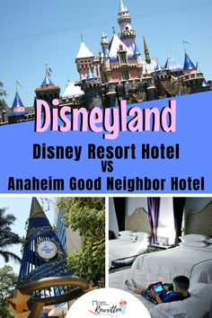 Debating between booking a Disneyland Resort hotel or staying at an Anaheim Good Neighbor Hotel? These are all the best tips on how to decide from a Disneyland expert, including choosing the best location for walking, which hotels offer free breakfast, suite options and best amenities. #disneyland #disneylandhotel #paradisepier #grandcalifornian #goodneighbor #hotels #anaheim #california #disney #disneytips #traveltips
