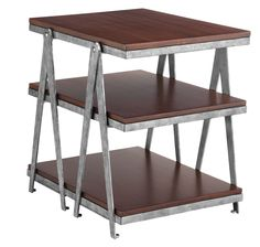Rich Walnut Veneers with an Aged Industrial Finish. #industrial #furniture #table