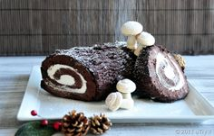 Chocolate Yule Log (Bûche de Noël au chocolat) For Christmas—with Step by Step Pictorial