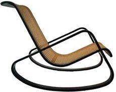 'dondolo' rocking chair  by luigi crassevig