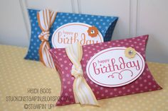 Birthday Pillow Boxes