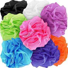 Counterfeit Blonde's Mesh Bath Sponges, Multi-Color Bath Loofah Sponge Assortment Bath Gift Basket, Body Scrubber, Loofah Sponge, Shower Routine, Aqua Color, Creative Gifts, Bath And Body, Mesh, Bath Sponges & Loofahs