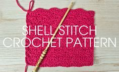 We're going to be mixing up our Something for the Weekend series this week with a crochet stitch! Click here to see how to crochet the Shell Stitch.
