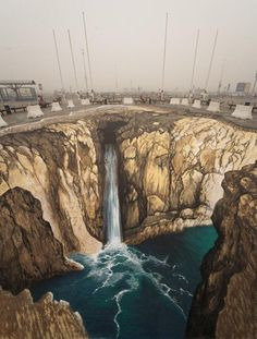3D Illusions Street Art 25 I'd be afraid to walk on it ;P I might really believe I will fall