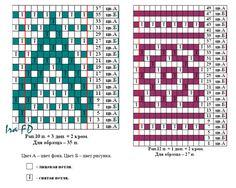 Fair Isle Knitting Patterns, Crochet Stitches Patterns, Sweater Knitting Patterns, Knitting Charts, Crochet Chart, Knitting Stitches, Stitch Patterns, Mosaic Knitting, Crochet Patron