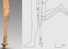 2200 years old chinese prosthetic leg