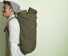 backpack out of an army surplus duffel (via readymade).