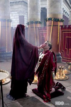 Nero, head priest of Rome Ancient Rome, Ancient Greece, Rome Hbo, Rome Tv Series, Gaius Julius Caesar, Ciaran Hinds, Cleopatra Beauty Secrets, Rome Antique, Empire Romain