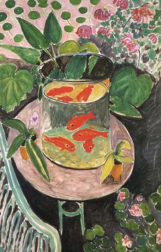 Henri Matisse Goldfish painting for sale - Henri Matisse Goldfish is handmade art reproduction; You can shop Henri Matisse Goldfish painting on canvas or frame. Henri Matisse, Matisse Kunst, Matisse Art, Art And Illustration, Art Amour, Matisse Paintings, Oil Paintings, Painting Art, Indian Paintings