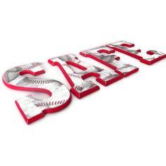 Baseball Wall Letters - DIY??