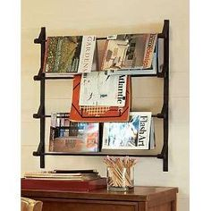 wall mounted magazine racks home design ideas