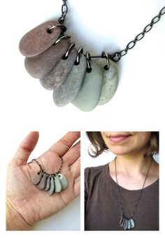 Natural stone necklace in berry colors :) All natural, undyed stones!