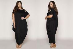 485345161cf  PlusModelMag Plus Fashion Find  Gold Embellished Off-Shoulder Maxi Dress  from Curve Girl