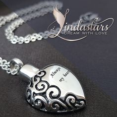 This heavenly beautiful memorial heart pendant #necklace is designed to enable you to hold a source of comfort in your hands and to find peace in your heart.  https://www.lindastars.com/collections/lindas-angels-necklaces/products/all-things-precious?variant=27386182019