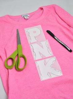 PNK Monsters U shirt DIY---could make it myself- use iron on letters and modify them
