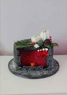 Merry Christmas cake by Geri #cakedesigns