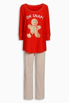 Buy Red Gingerbread Man Pyjamas from the Next UK online shop