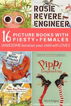 Where did all the picture books with strong female characters go? These 16 awesome picture books for girls (or boys!) all feature a feisty female and are all winners with my Little Lady at bedtime. Try adding some girl power (and a little less subservience!) to story time!
