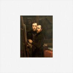 Paul e Hippolyte Flandrin · Doppio autoritratto · 1842 ca · Louvre · Paris