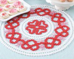Crochet Beyond The Basics: Heart Doily. Available from Maggie's Crochet.