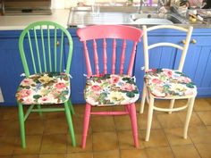 different colors, different chairs