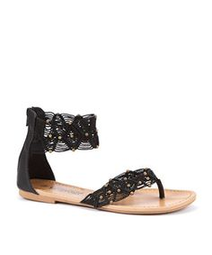 Black Crochet Sandals - New Look price: £17.99