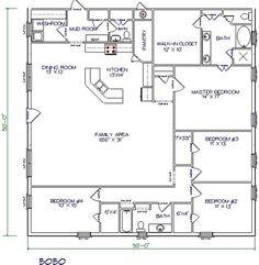Barndominium floor plan