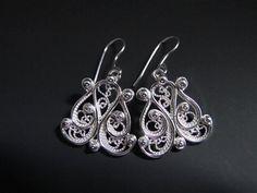 Handmade Argentium Sterling Silver Filigree Earrings - Media - Jewelry Making Daily