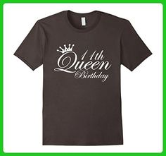 Mens 11th Queen-11 Year Old -11th Birthday Gift Ideas for Her 3XL Asphalt - Birthday shirts (*Amazon Partner-Link)