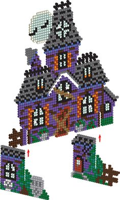 <p>Creaks and groans, rattling chains and flapping of wings—imagine the creepiness when you make this spooky haunted house from Perler beads! This fun 3-D project makes a great decoration for Halloween parties and greeting little goblins who come trick or treating!</p>