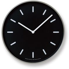 Mono Wall Clock in Black w/ Lines design by Lemnos (260 BGN) ❤ liked on Polyvore featuring home, home decor, clocks, decor, filler, furniture, wood clock, wood home decor, wooden wall clock and black clock