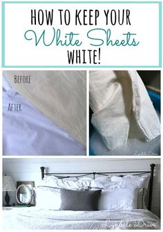 I've gone crazy and bough white sheets! I'll show you some tips and laundering tricks to keeping them white! And how to bring life back to yellowing bedding