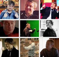 (gif set) Martin Freeman IS AWESOME or what? Click and see. I can't get over the cuteness of this man, I can't.