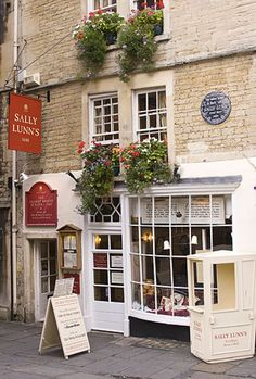 Fabulous food here - Sally Lunn's is much more than a world famous tea and eating house in the centre of the wonderful city of Bath England. Our historic building is one of the oldest houses in Bath. Our kitchen museum shows the actual kitchen used by the legendary young Huguenot baker Sally Lunn in Georgian Bath to create the first Bath bun – an authentic regional speciality now known the world over.