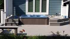 Here is another picture of a Master Spas hot tub installed partially in a deck.
