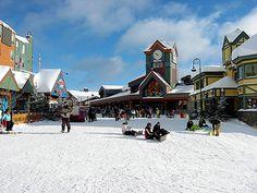 The village at Big White Ski Resort.