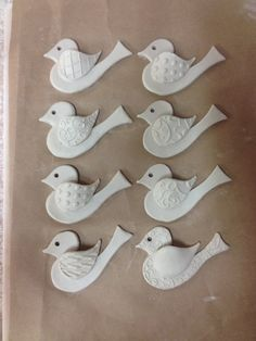 holiday ornaments by Gary Jackson, Fire When Ready Pottery