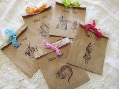 Alice in Wonderland Take Me Kraft Paper Party by auntiesjammies, $12.50