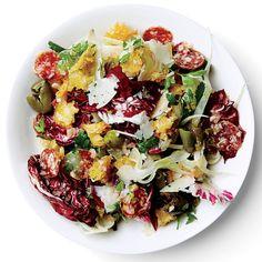 Radicchio, Fennel, and Olive Panzanella Recipe - Bon Appétit Olive Recipes, Italian Recipes, Fennel Recipes, Italian Meals, Tuscan Recipes, Italian Cooking, Italian Dishes, Best Summer Salads, Kitchens