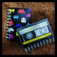I think my retro notebooks are making me a little too happy. #geek #writer Photo by sherbowie