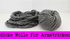 Super dicke Wolle für Armstricken selber machen | Fingerstricken