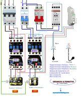 Esquemas eléctricos: Esquema eléctrico arranque alternativo de 2 motore...