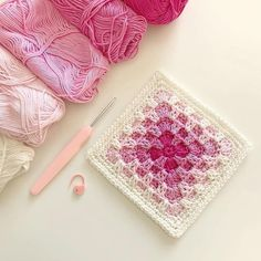 Pinner said xx The lovely Kay (who is making a gorgeous blue version of ), asked me to share and this is it! I've been totally enjoying…Trebling Granny Square - free crochet pattern by AmeGranny Square 43 from When Granny Meets Filet.ag your friends v Motifs Granny Square, Granny Square Crochet Pattern, Crochet Blocks, Crochet Squares, Crochet Blanket Patterns, Crochet Motif, Crochet Stitches, Knitting Patterns, Knit Crochet