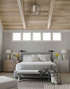 *Master Bedroom benjamin moore gray owl is the best gray paint colour with blue green undertones. Shown in Master bedroom. Bedroom Paint Colors, Gray Bedroom, Home Bedroom, Bedroom Decor, Blue Bedrooms, Bedroom Wall, Bedroom Windows, Peaceful Bedroom, Bed Room