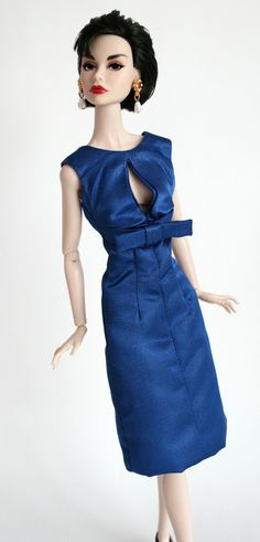 Blue Taffeta Dress for Poppy Parker by ChicBarbieDesigns on Etsy, $19.99